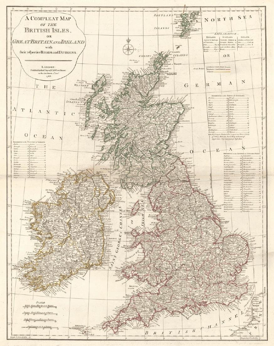 A Compleat Map of the British Isles, Or Great Britain