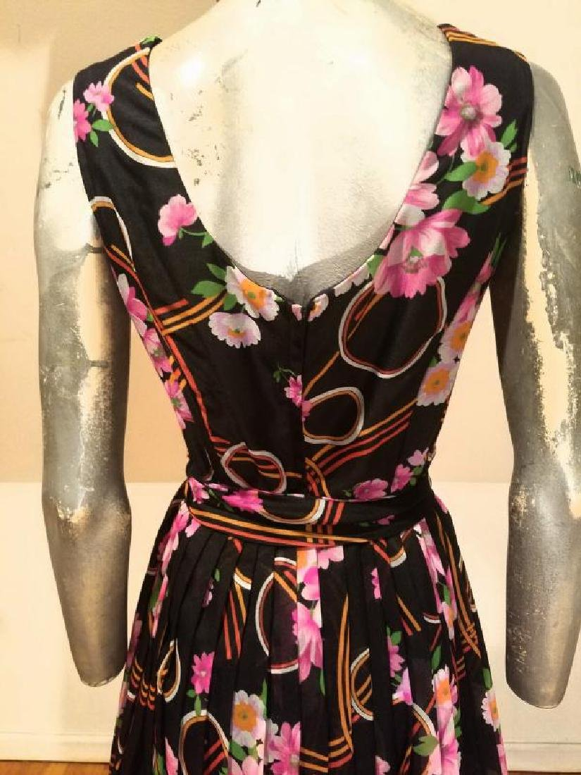 Vtg Best & Co Fifth Ave maxi floral chiffon dress & - 2