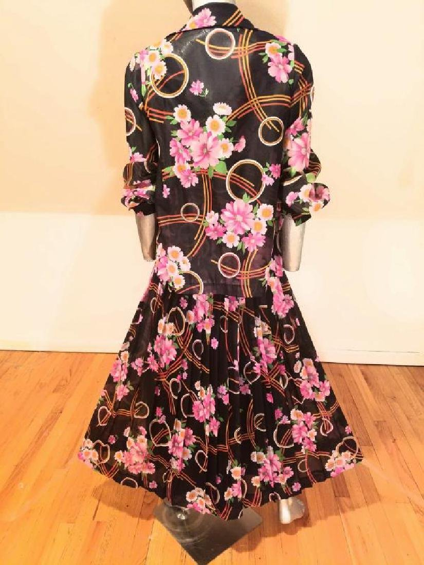 Vtg Best & Co Fifth Ave maxi floral chiffon dress & - 3