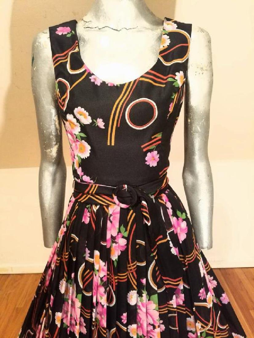 Vtg Best & Co Fifth Ave maxi floral chiffon dress & - 7