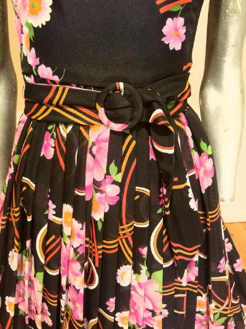 Vtg Best & Co Fifth Ave maxi floral chiffon dress & - 8