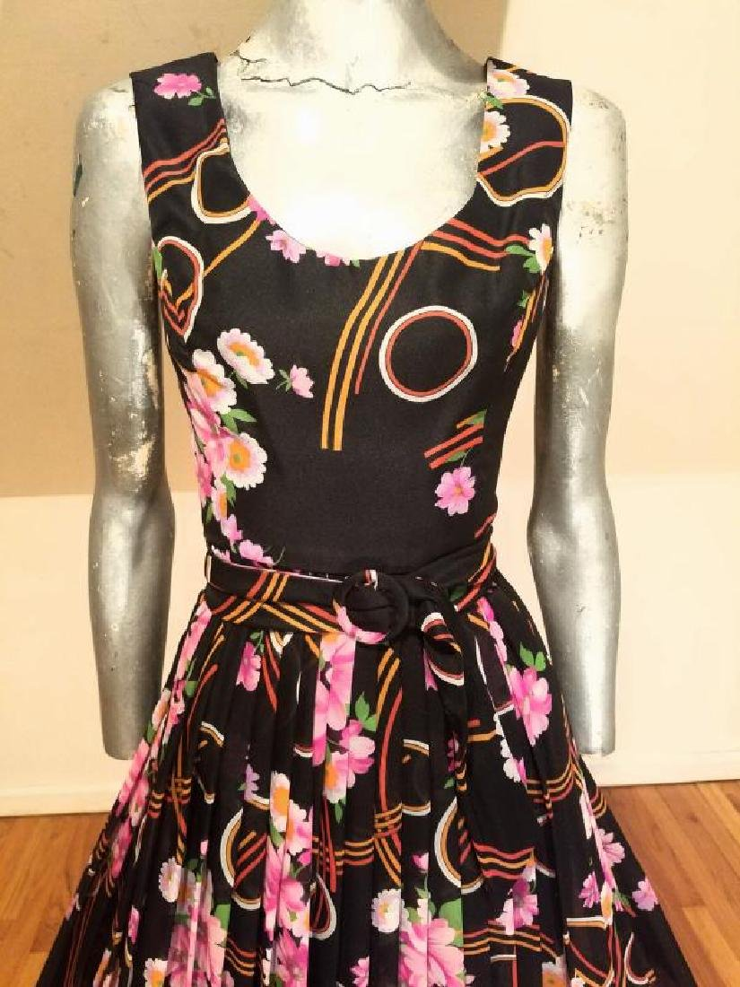 Vtg Best & Co Fifth Ave maxi floral chiffon dress & - 9
