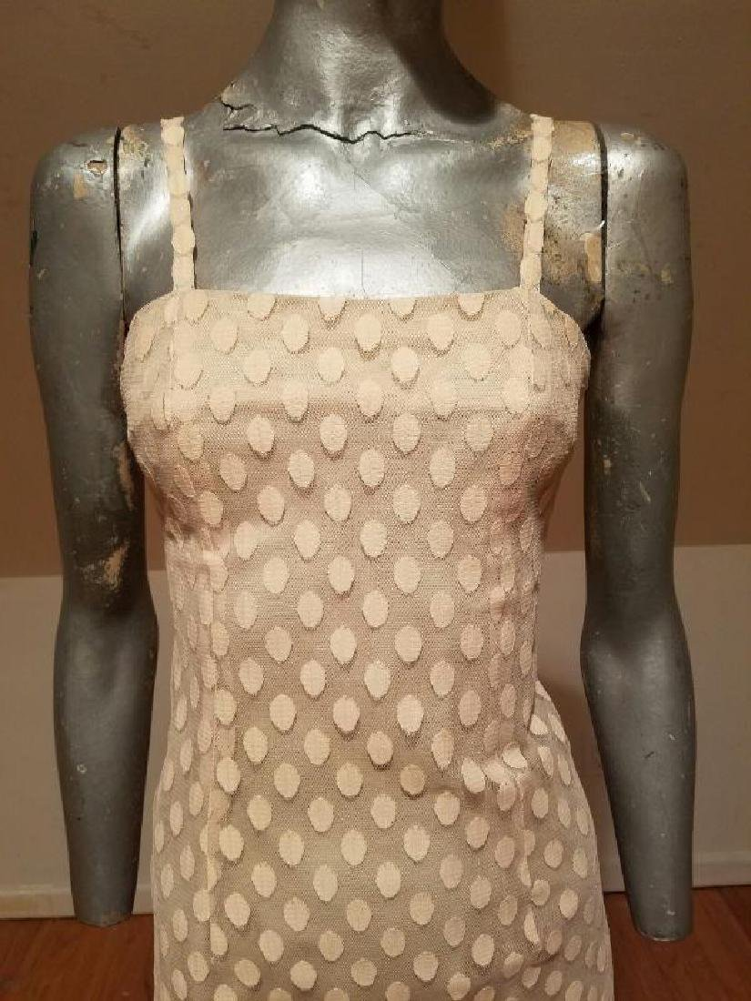 Vtg 1960 Ballet shoe pink dotted tulle dress and top - 7