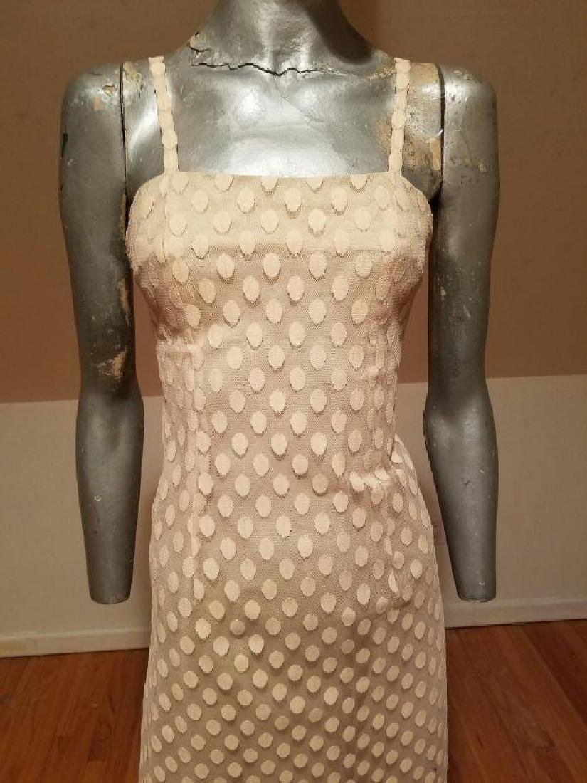 Vtg 1960 Ballet shoe pink dotted tulle dress and top - 9
