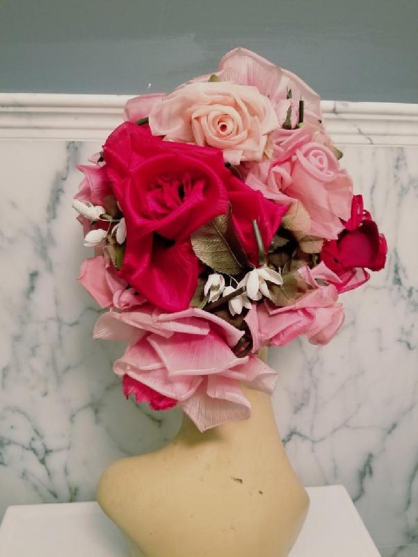 Vtg 1950's Don Anderson for Gimbels Millinery floral - 2