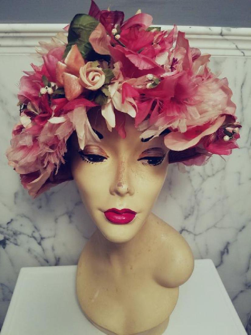 Vtg 1950 Miss Alice for Lord & Taylor Salon Millinery