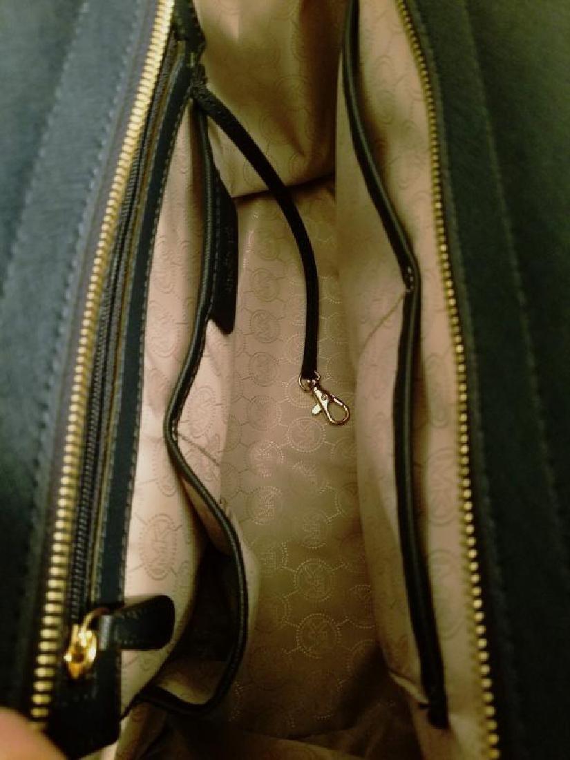 NWOT Michael Kors Selma Saffiano leather navy gold Bag - 6