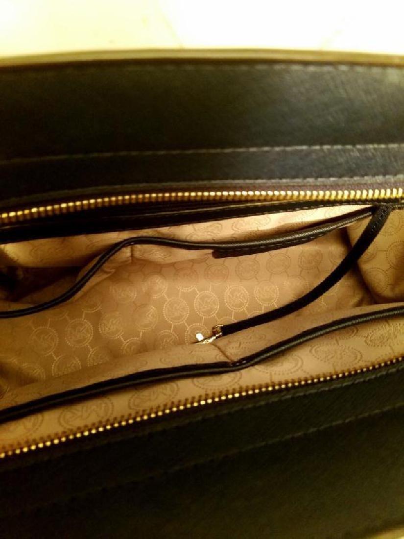 NWOT Michael Kors Selma Saffiano leather navy gold Bag - 7