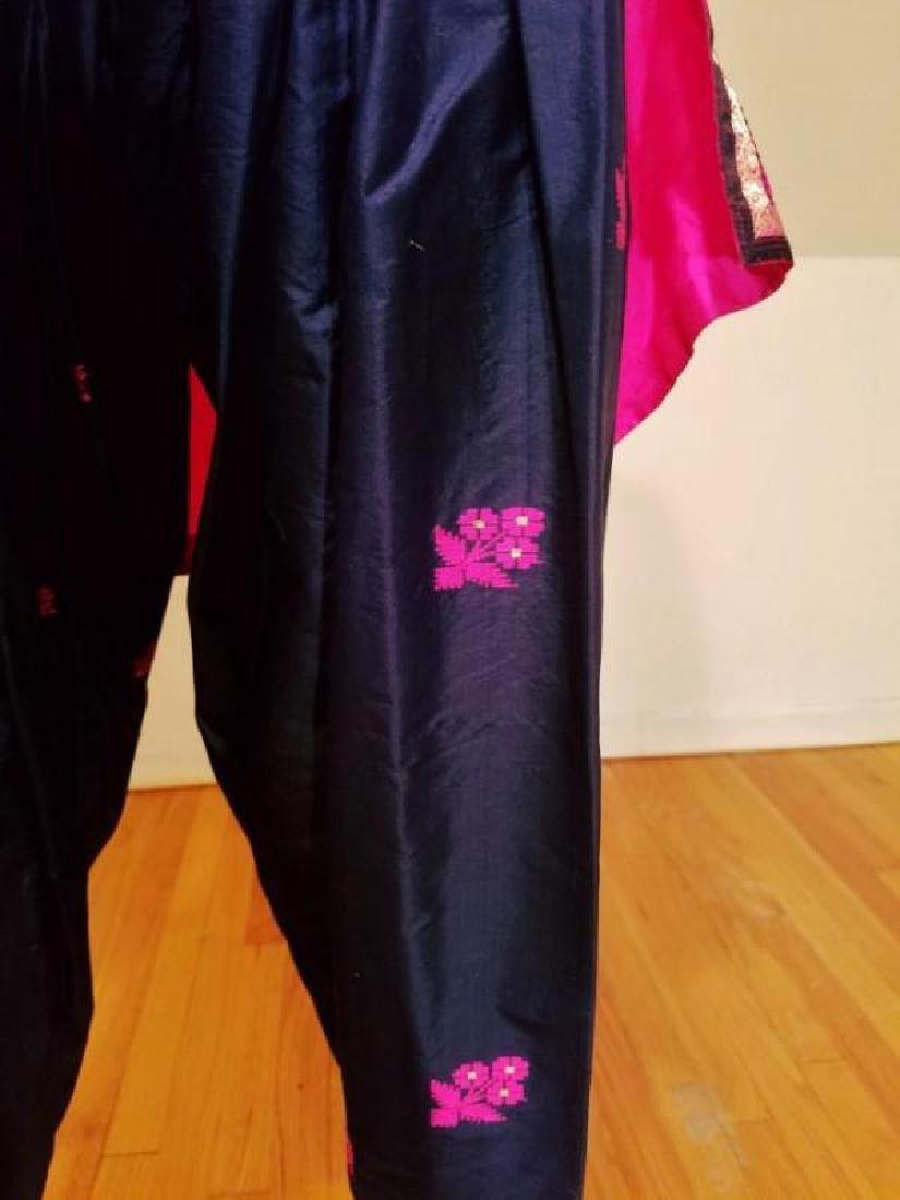Vtg 1940's Polynesian raw silk Tunic and Pant ensemble - 9