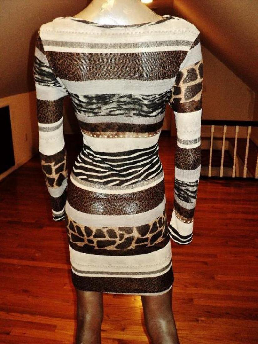 Luca Milano draped collar wiggle dress animal combo - 5