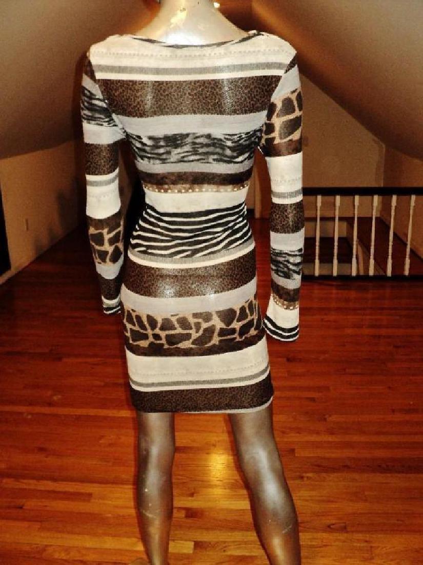 Luca Milano draped collar wiggle dress animal combo - 7