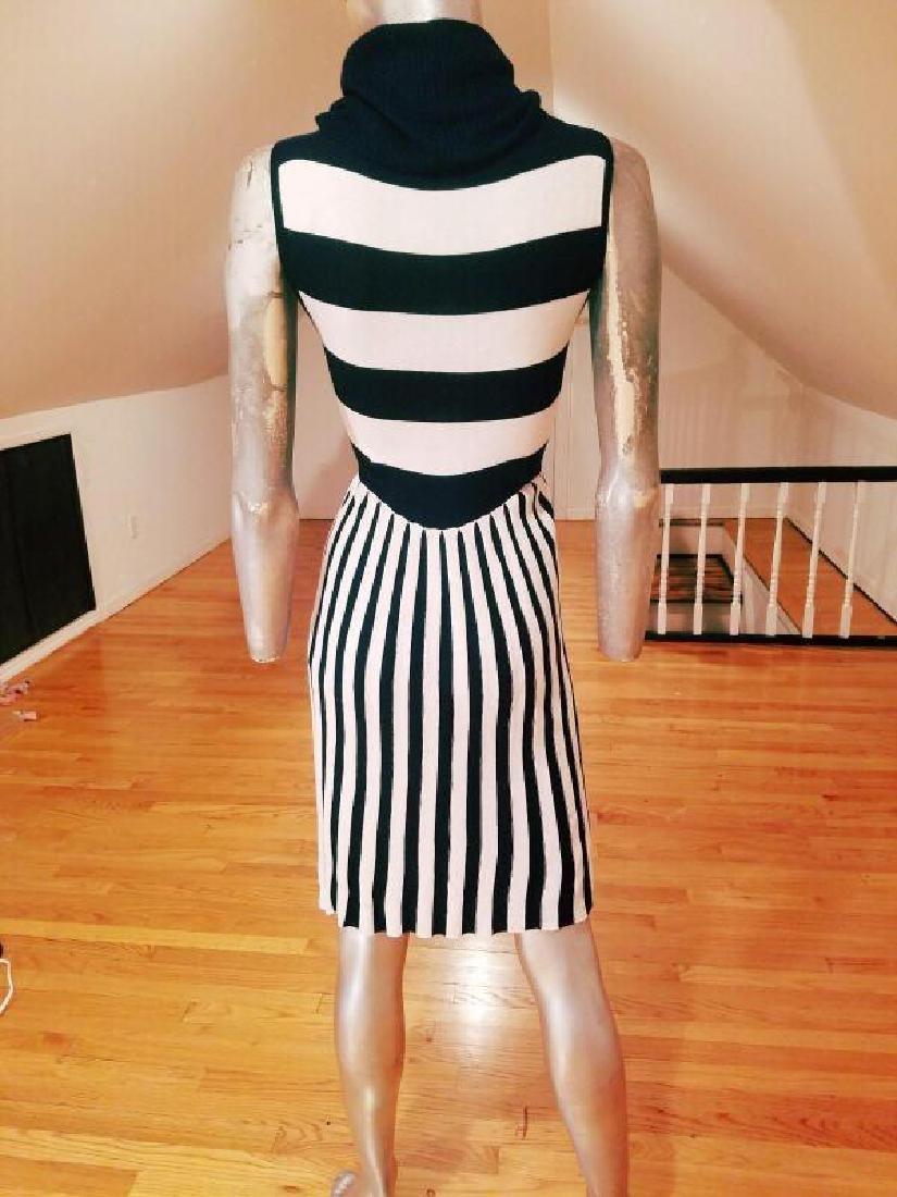 Alice+Olivia striped black/white turtle neck body con - 2
