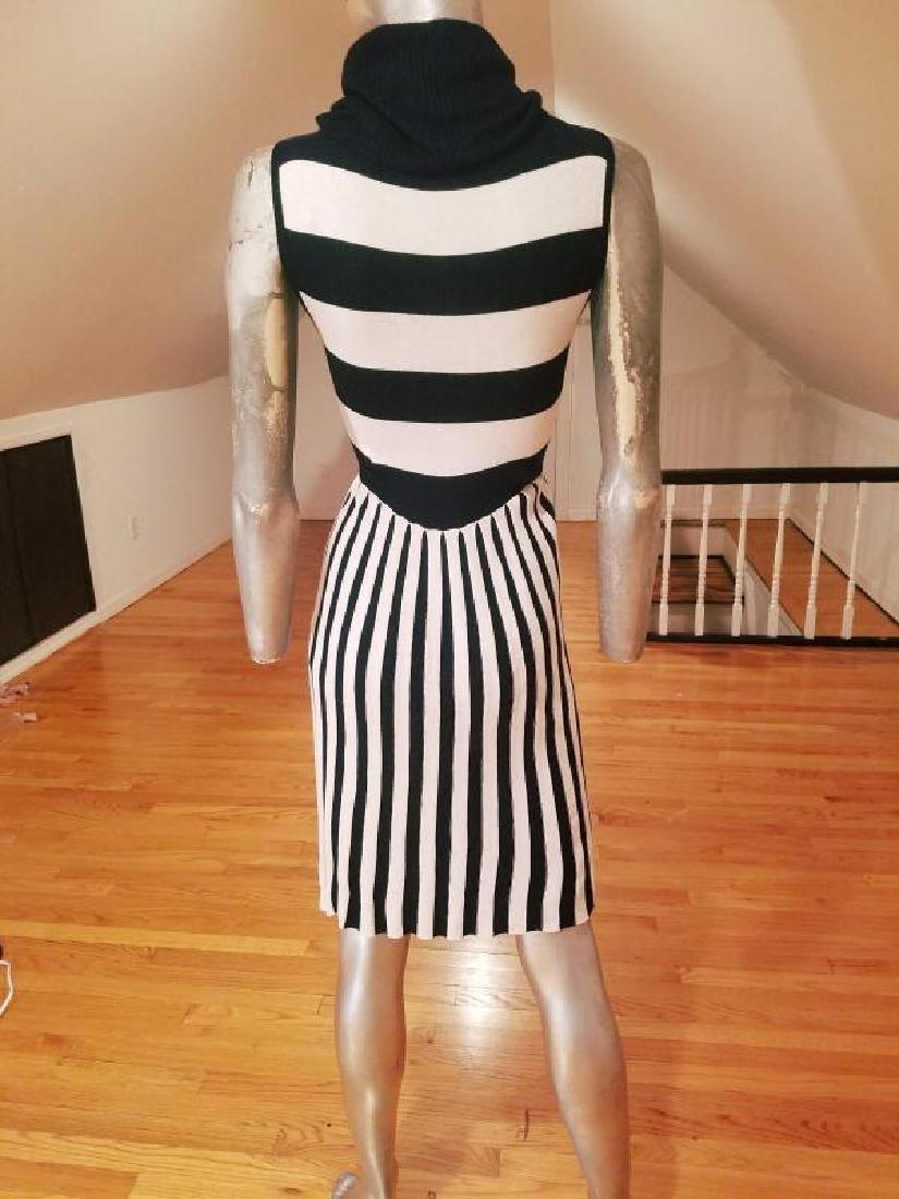 Alice+Olivia striped black/white turtle neck body con - 3