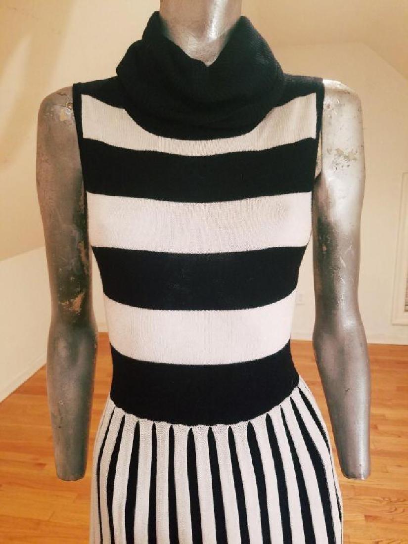 Alice+Olivia striped black/white turtle neck body con - 4