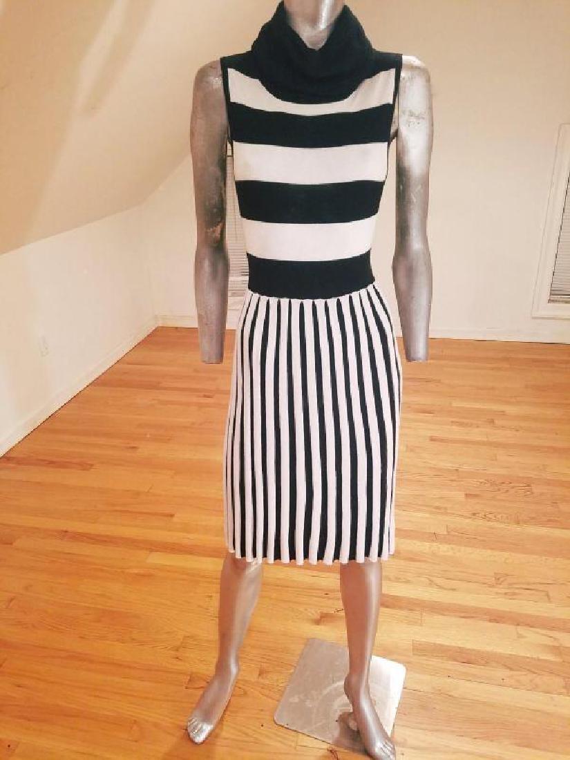 Alice+Olivia striped black/white turtle neck body con - 5