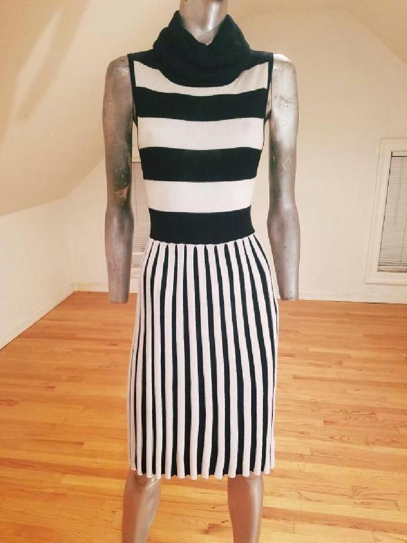 Alice+Olivia striped black/white turtle neck body con - 6