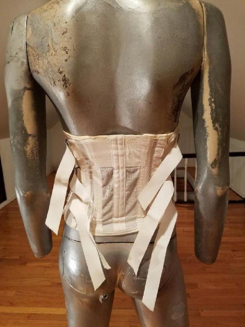 Vtg 1950's Imperial laced Rubber corset brace support - 6
