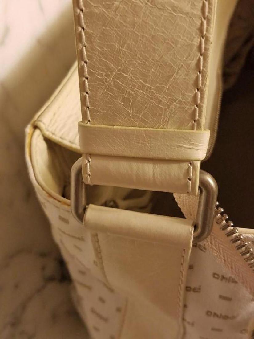 Chloe' Paris large shoulder -Diaper bag Leather canvas - 2