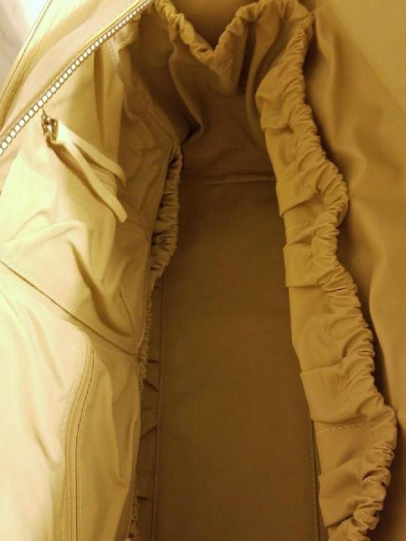 Chloe' Paris large shoulder -Diaper bag Leather canvas - 3