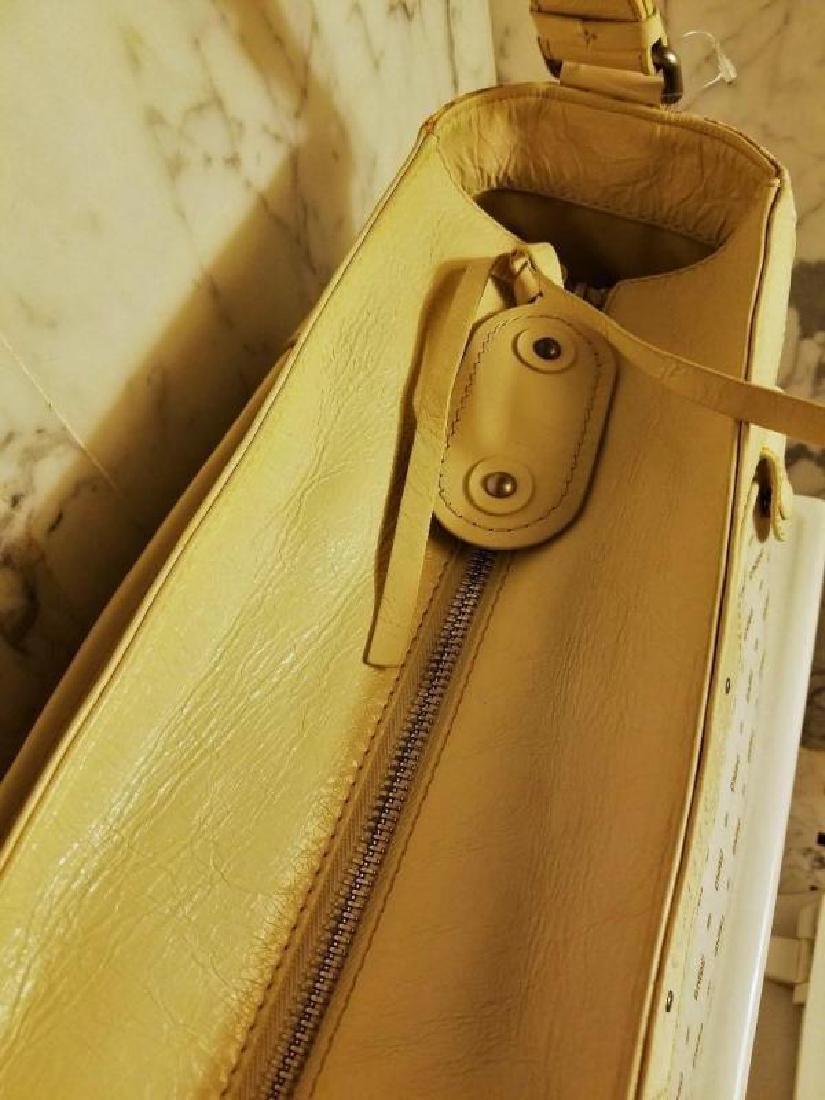 Chloe' Paris large shoulder -Diaper bag Leather canvas - 5