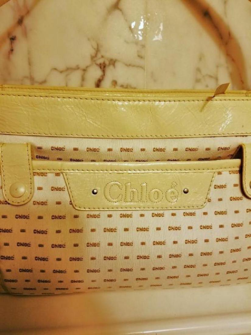 Chloe' Paris large shoulder -Diaper bag Leather canvas - 6