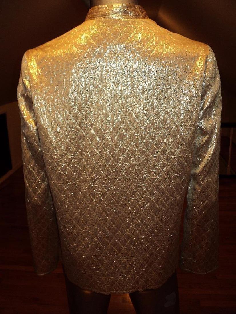 Vintage 1950 Metallic Gold Brocade Jacket Casi Hong - 10