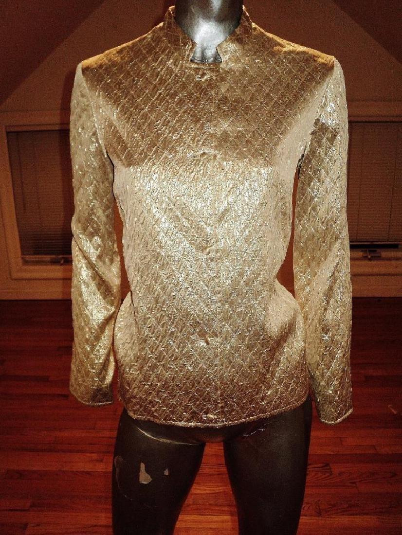 Vintage 1950 Metallic Gold Brocade Jacket Casi Hong