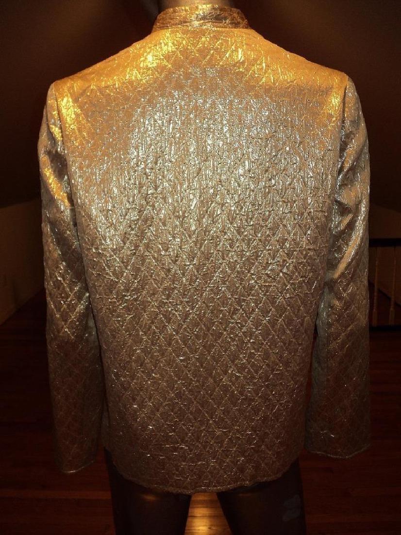 Vintage 1950 Metallic Gold Brocade Jacket Casi Hong - 6