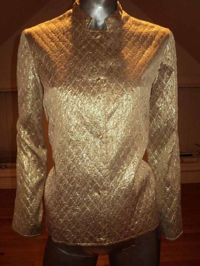 Vintage 1950 Metallic Gold Brocade Jacket Casi Hong - 7