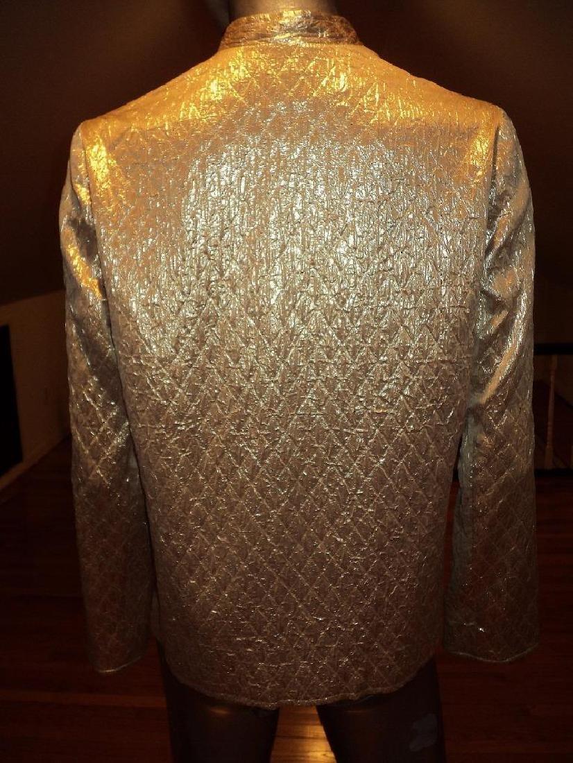 Vintage 1950 Metallic Gold Brocade Jacket Casi Hong - 9