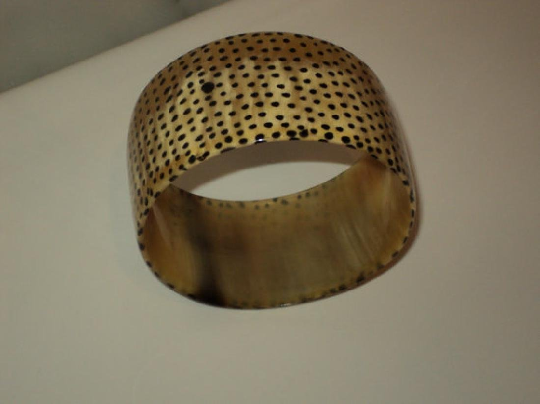 Vtg Bangle Antelope Horn African Handcrafted - 2