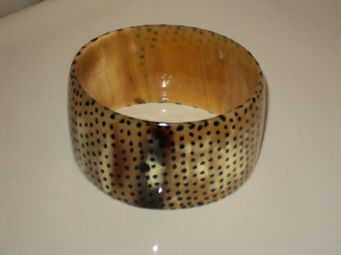 Vtg Bangle Antelope Horn African Handcrafted - 4