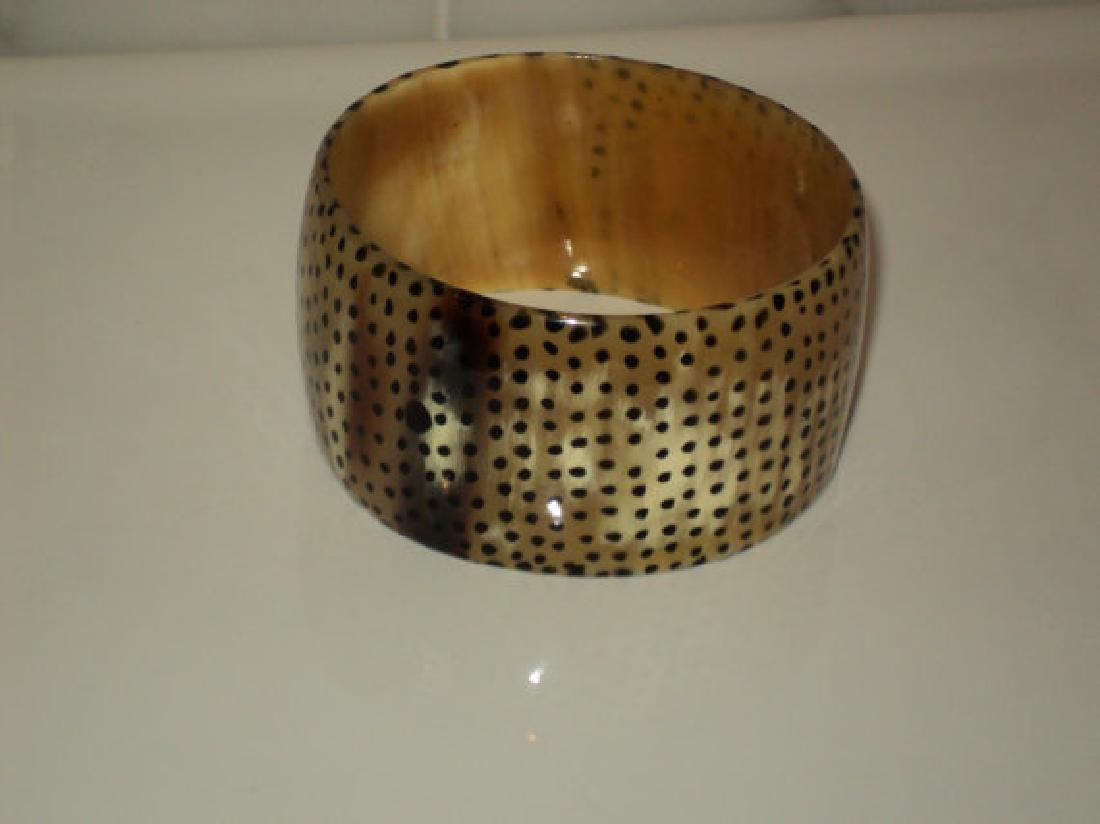 Vtg Bangle Antelope Horn African Handcrafted - 5