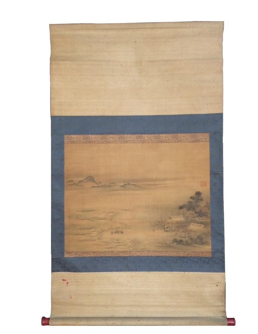 Hanging scroll: Rural landscape