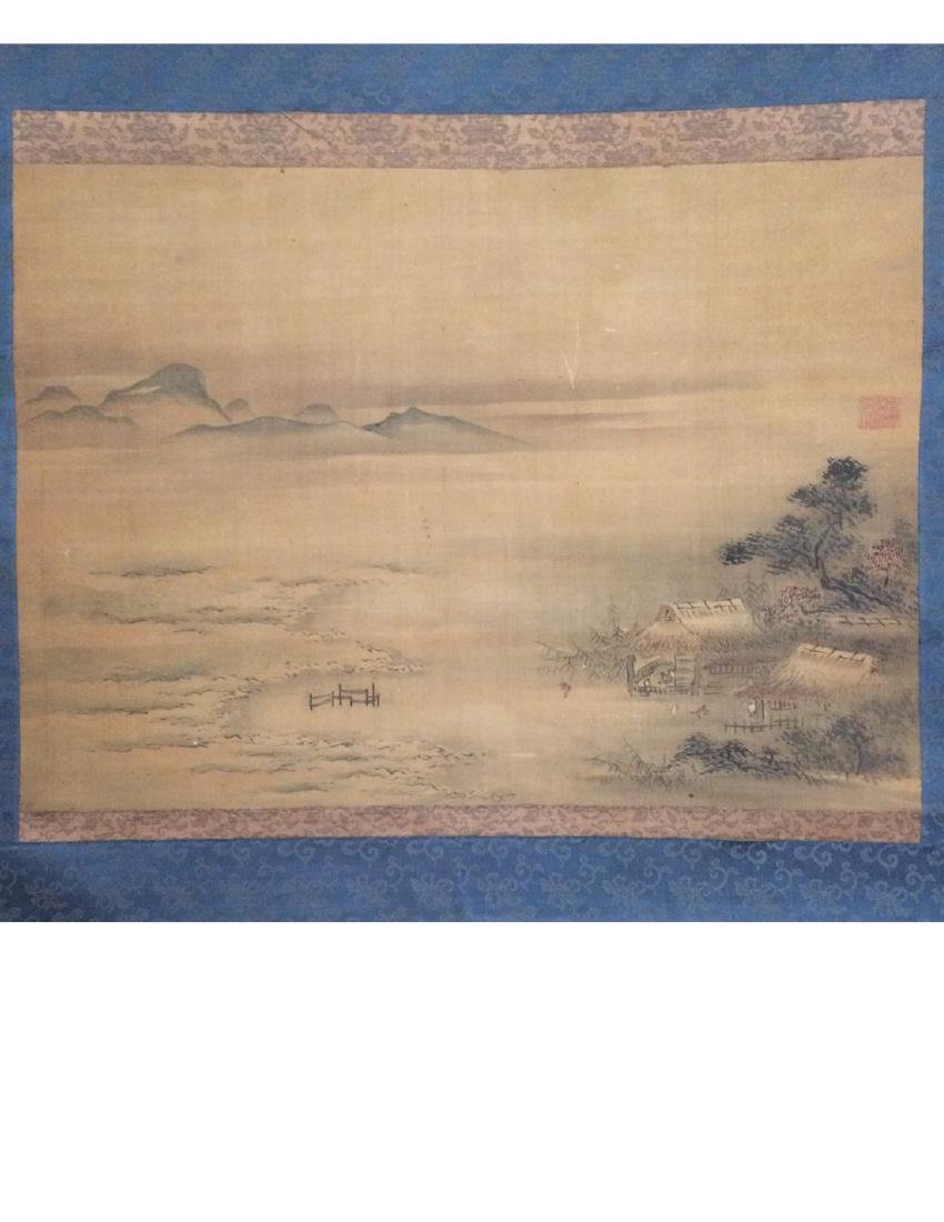 Hanging scroll: Rural landscape - 2