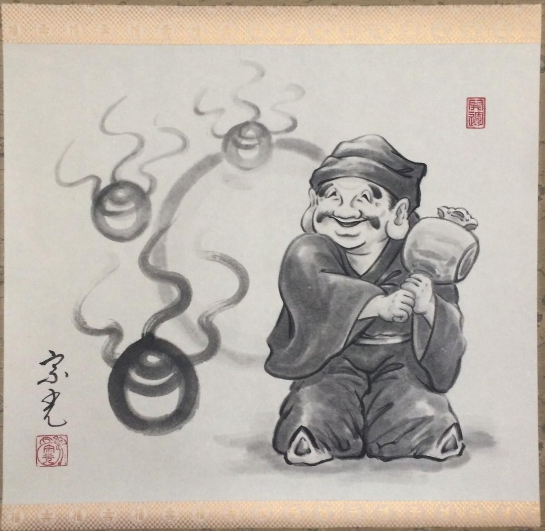 Hanging scroll: Daikokuten - 2