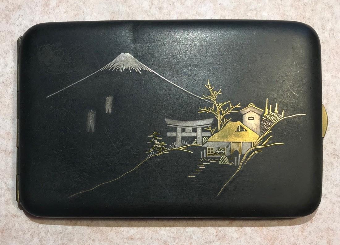 Damascene cigarette case