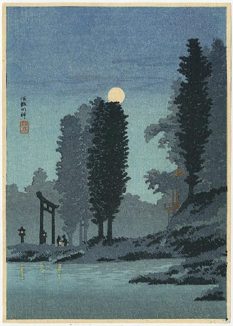 Shotei Takahashi (Hiroaki) Woodblock Moonrise