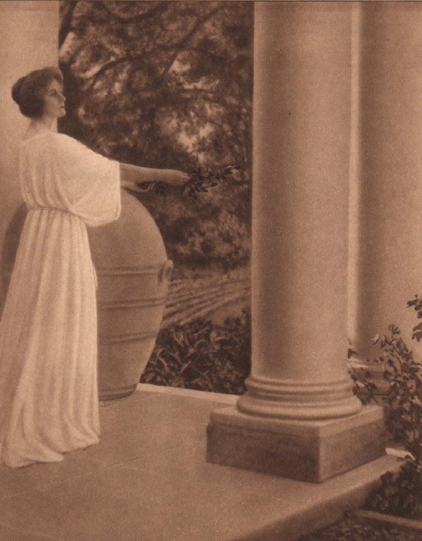 ADELAIDE HANSCOM (LEESON) - Woman on a Portico