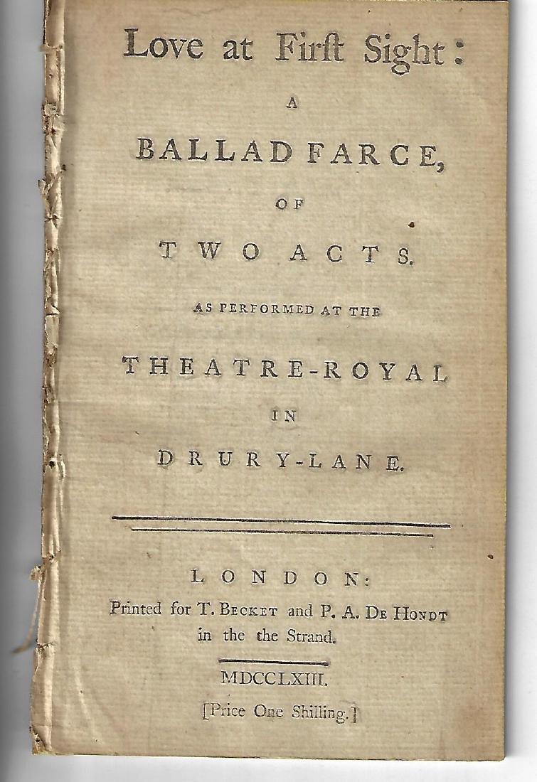 1763 Play Love at First Sight A Ballad Farce