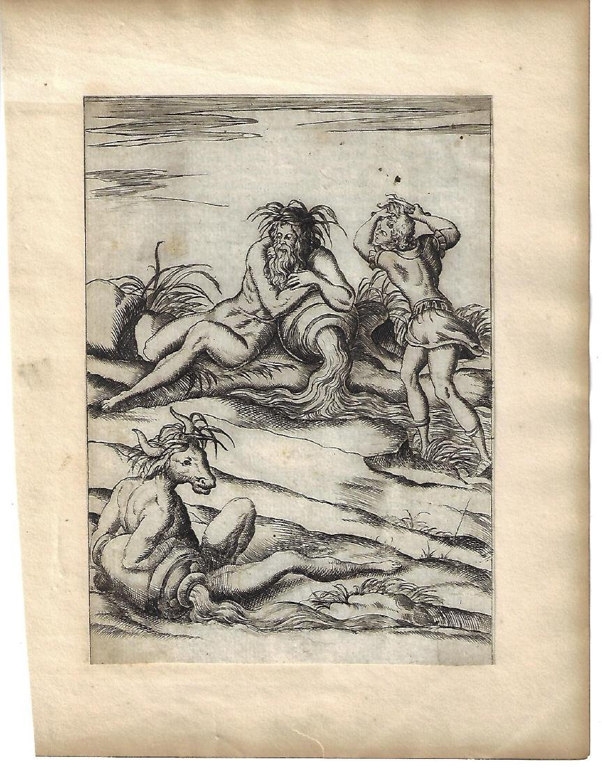 1587 Mythology Engraving Vincenzo Cartari