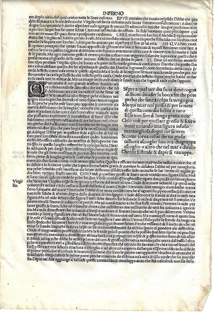 1507 Leaf Dante Inferno Canto XVI
