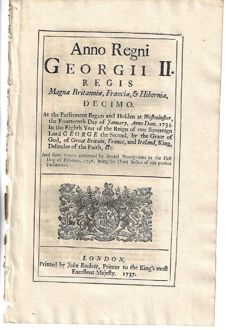 1736 English Act Murder of Sea Captain Porteus