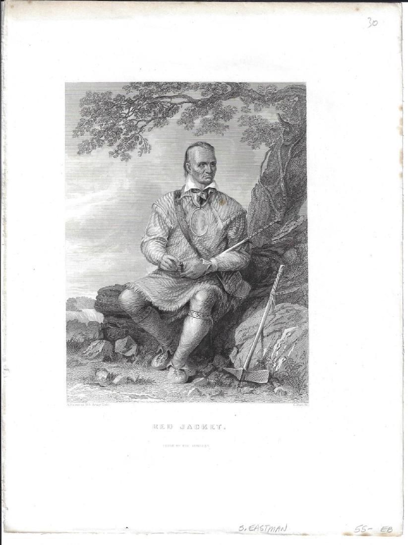 1851 Seth Eastman Engraving Seneca Chief Red Jacket