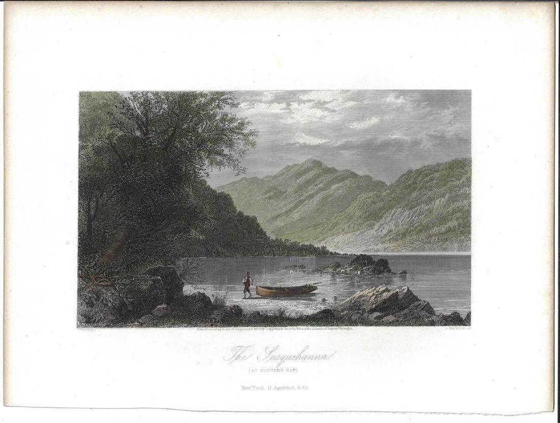 1872 Handcolored Engraving Susquehanna at Hunter's Gap