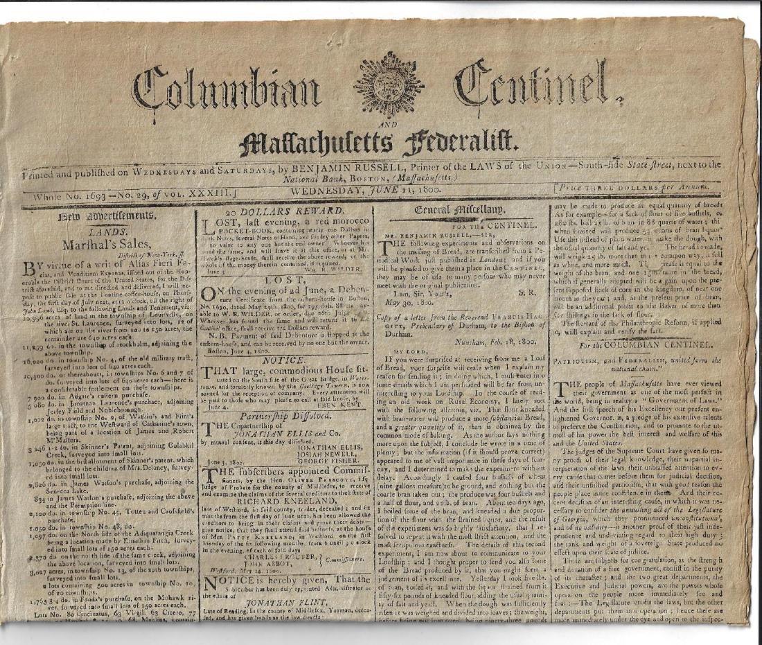 1800 Federalist Newspaper Patriotism Federalism United
