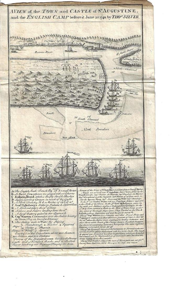 1740 Engraving Town Castle St. Augustine Florida