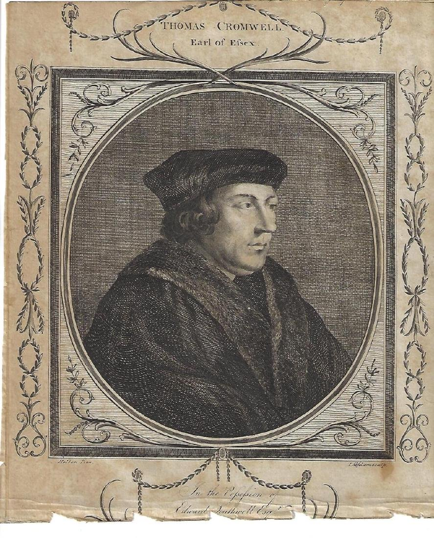 1786 Engraving of Thomas Cromwell