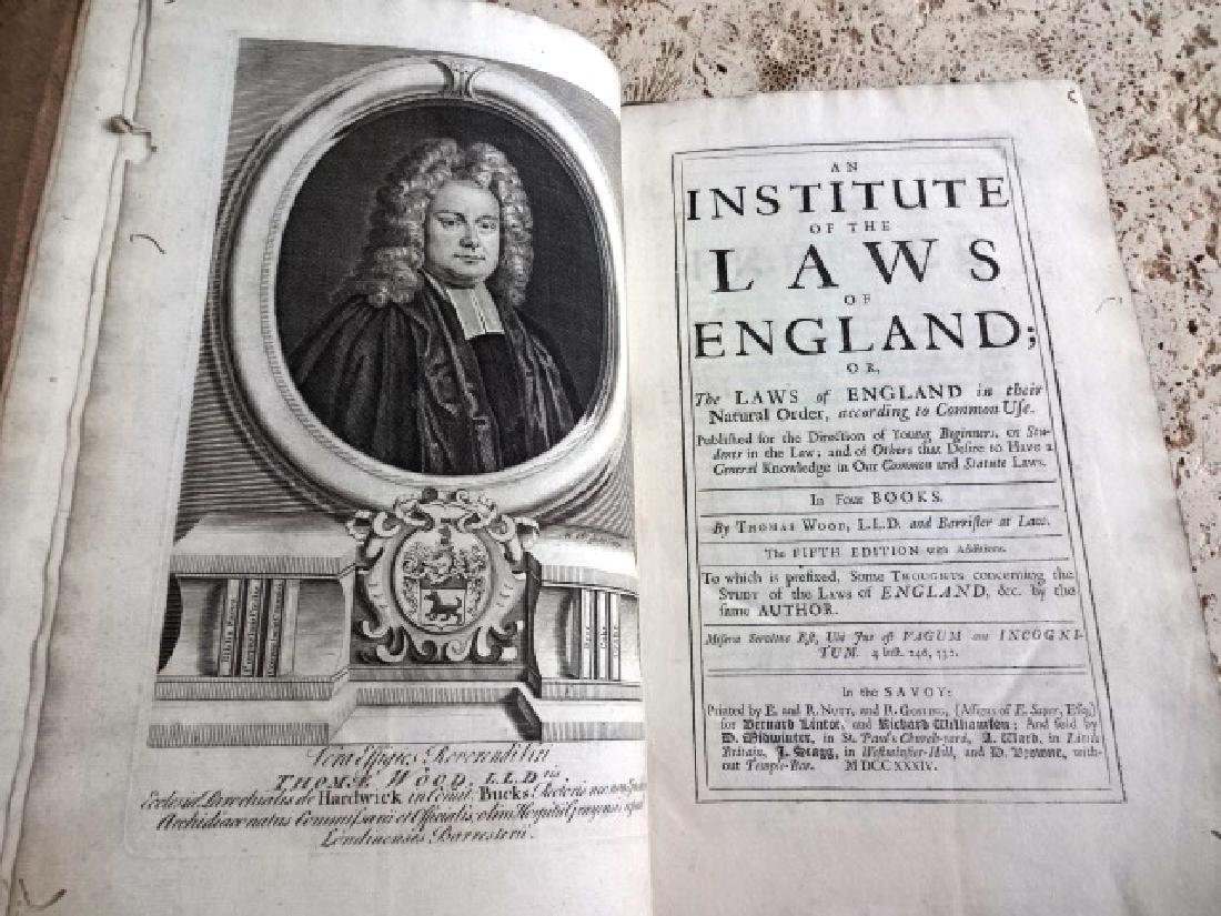 1734 Institute of the Laws of England …in Four Books