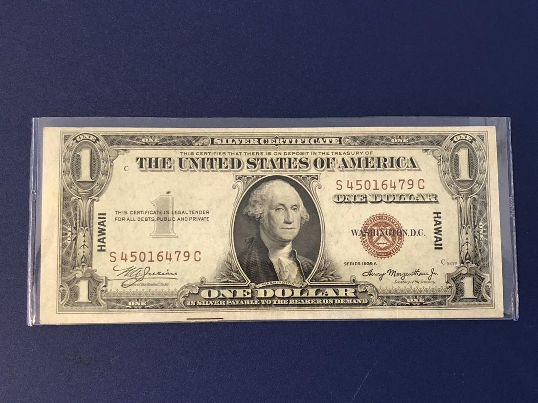 $1 Series 1935A Hawaii Silver Certificate